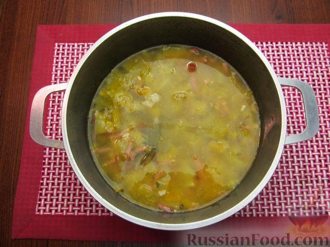 Фото приготовления рецепта: Суп из зеленых помидоров с копченой грудинкой - шаг №13