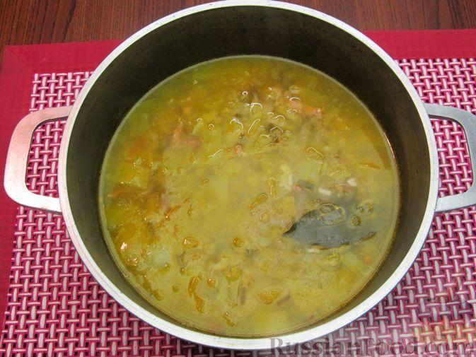 Фото приготовления рецепта: Суп из зеленых помидоров с копченой грудинкой - шаг №14