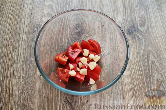 Фото приготовления рецепта: Овощной смузи с репчатым луком и чесноком - шаг №3
