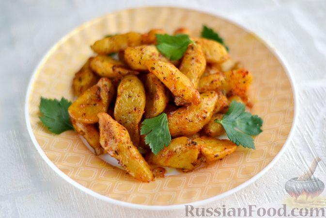 Фото к рецепту: Топинамбур, запечённый с пряностями (в духовке)