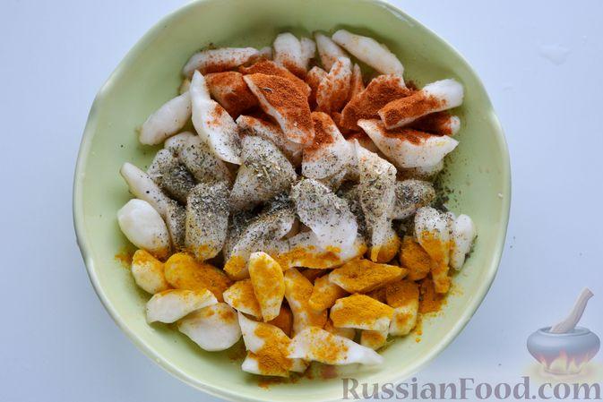 Фото приготовления рецепта: Топинамбур, запечённый с пряностями (в духовке) - шаг №3