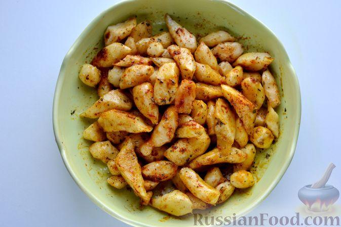 Фото приготовления рецепта: Топинамбур, запечённый с пряностями (в духовке) - шаг №5
