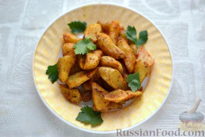 Фото приготовления рецепта: Топинамбур, запечённый с пряностями (в духовке) - шаг №7