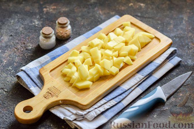 Фото приготовления рецепта: Куриный суп с овощами и сливками - шаг №3