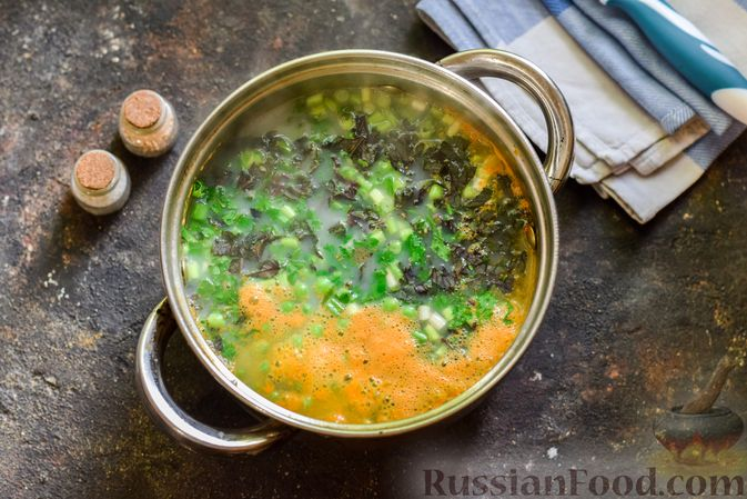 Фото приготовления рецепта: Куриный суп с овощами и сливками - шаг №10