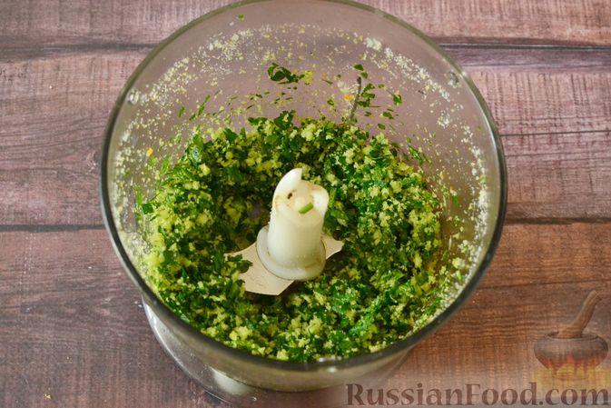 Фото приготовления рецепта: Суп-пюре из тыквы с цветной капустой и чесночной заправкой - шаг №8