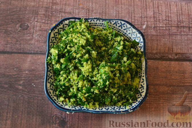 Фото приготовления рецепта: Суп-пюре из тыквы с цветной капустой и чесночной заправкой - шаг №9