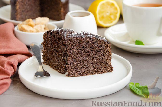 Фото к рецепту: Маковый пирог (без муки)