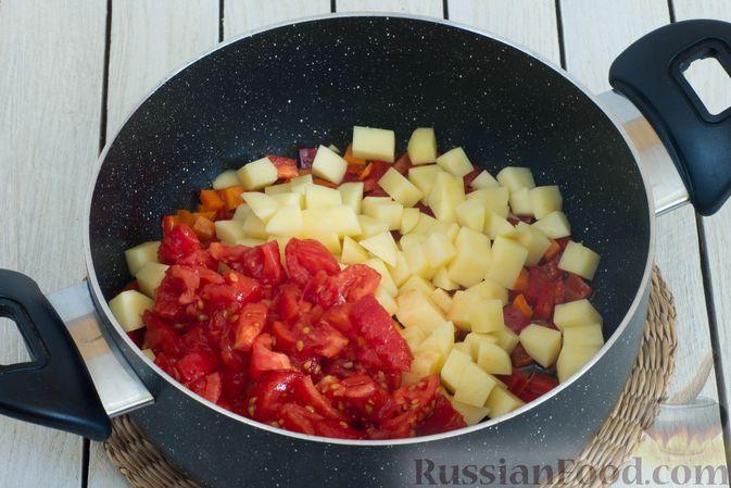 Фото приготовления рецепта: Щи с булгуром и овощами - шаг №6