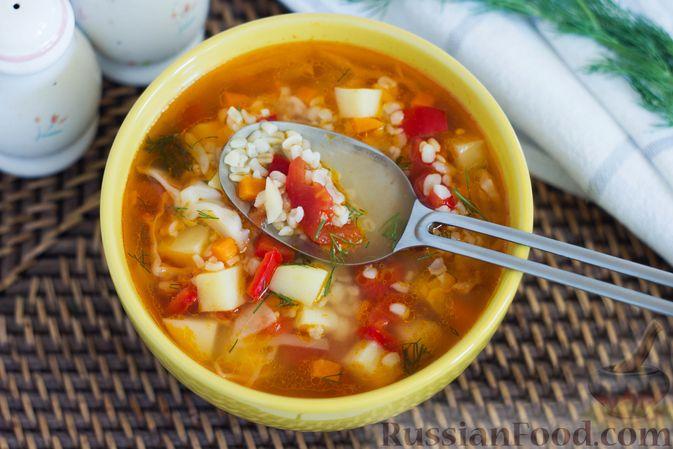 Фото приготовления рецепта: Щи с булгуром и овощами - шаг №11