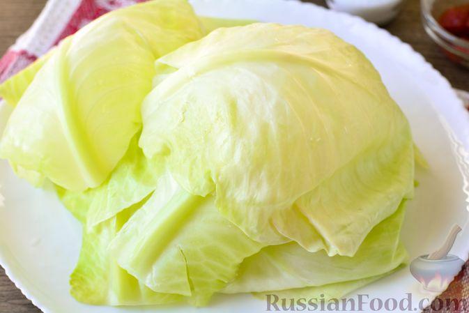 Фото приготовления рецепта: Голубцы с мясным фаршем и картофелем - шаг №3