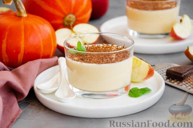 Фото к рецепту: Йогуртовое желе с тыквой и яблоками