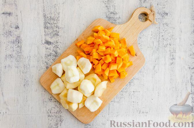 Фото приготовления рецепта: Йогуртовое желе с тыквой и яблоками - шаг №2
