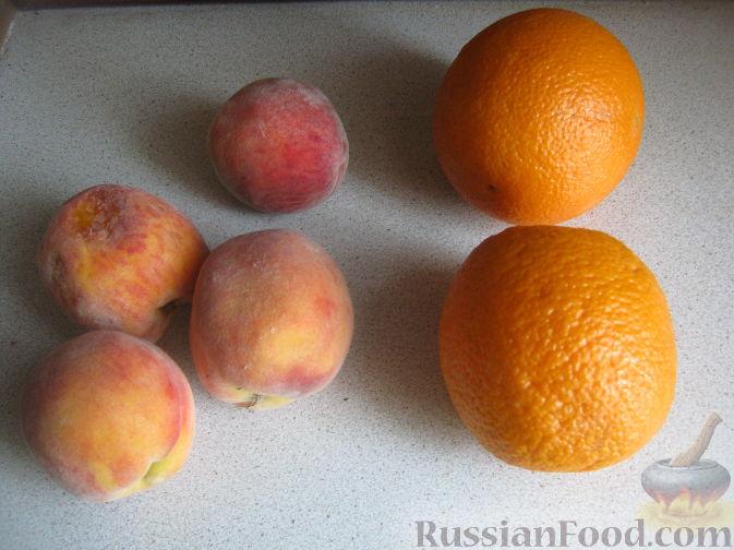 Фото приготовления рецепта: Смузи из персика и апельсина - шаг №1