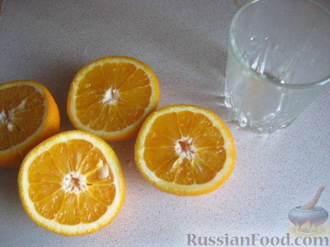 Фото приготовления рецепта: Смузи из персика и апельсина - шаг №2
