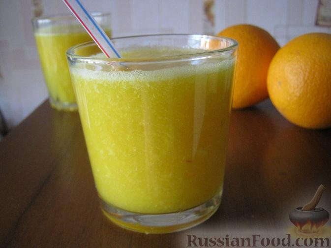 Фото приготовления рецепта: Смузи из персика и апельсина - шаг №8