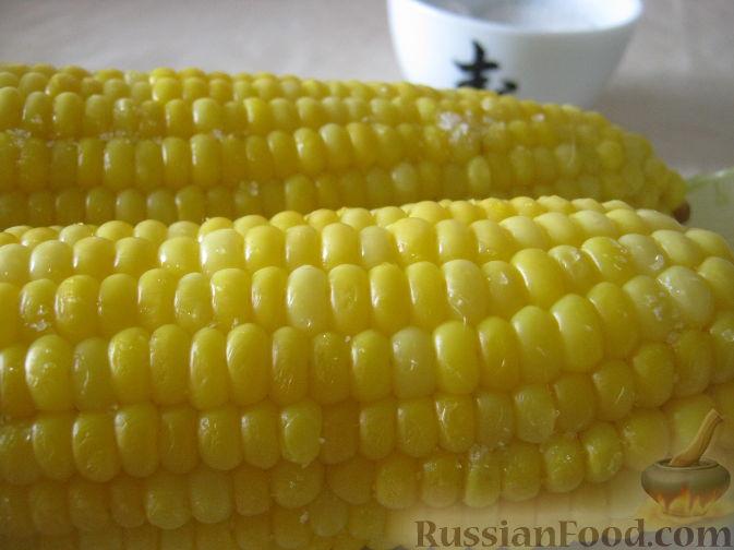 Рецепт Молодая кукуруза в початках отварная