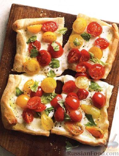 Рецепт Пицца с помидорами и сыром