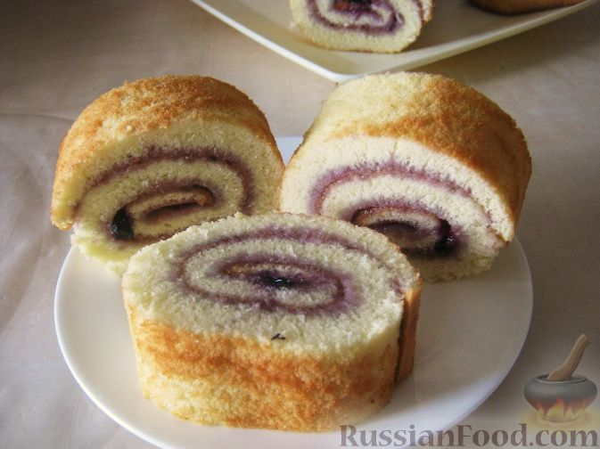 рецепт бисквитного рулета с майонезом