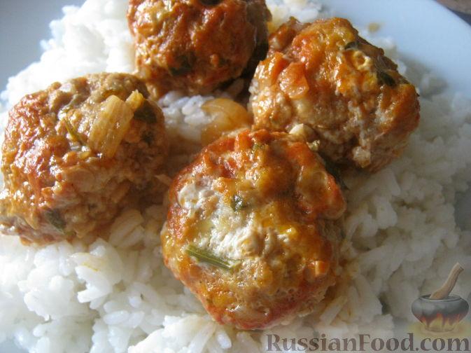 Рецепт Фрикадельки в томатно-чесночном соусе