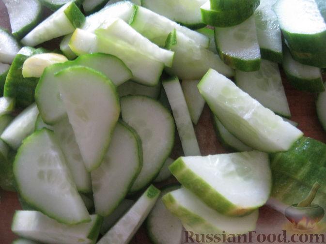 Пошаговый рецепт салат из огурцов нежинский