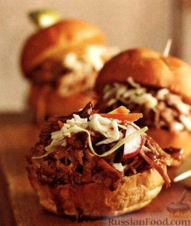 Рецепт Бургеры с тушеным мясом