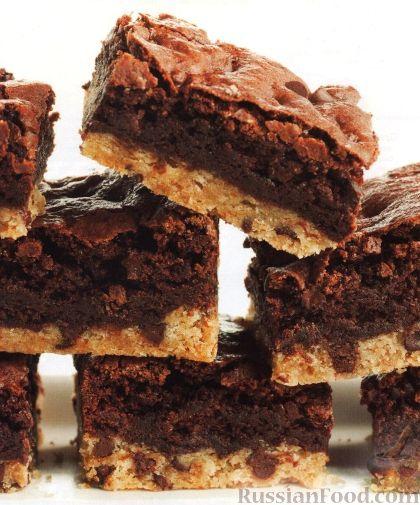 Рецепт Двухслойные брауни с шоколадом
