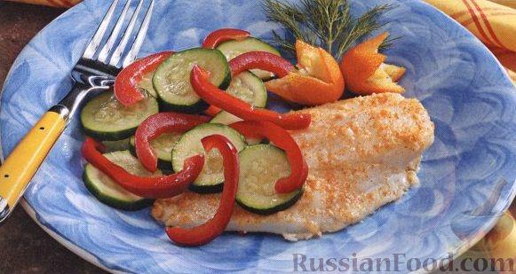 Рецепт Морской окунь, запеченный с овощами на гриле