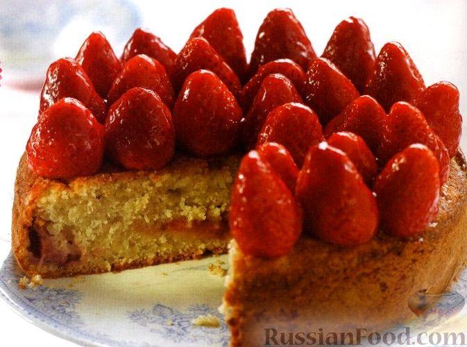 Рецепт Пирог с клубникой и яблоками