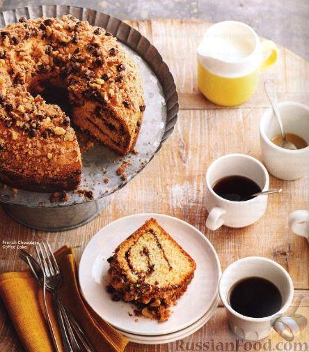 Рецепт Пирог-рулет с шоколадом и грецкими орехами