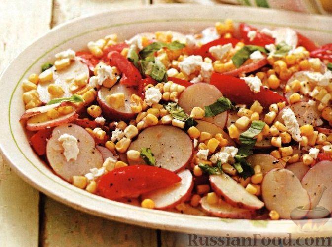 Рецепт Салат картофельный с помидорами и кукурузой