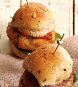 Рецепт Мини-бургеры с фасолевыми котлетами