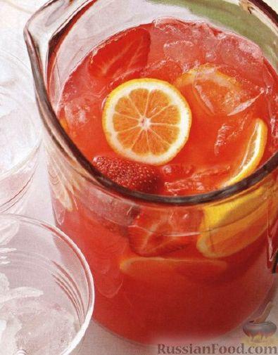 Рецепт Лимонад с арбузом и клубникой