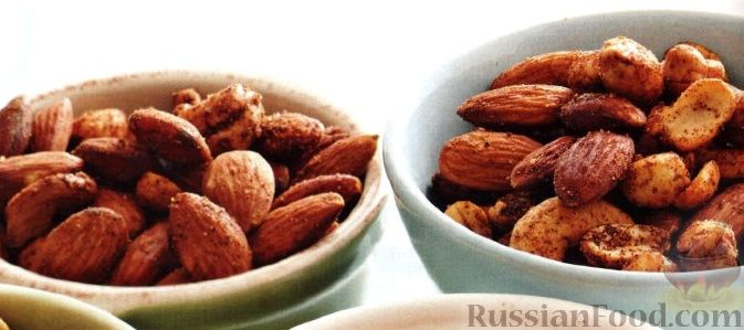 Рецепт Пряные орешки к пиву