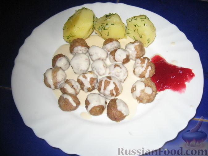 Рецепт Фрикадельки под сливочным соусом
