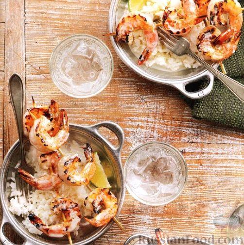 Рецепт Креветки, жаренные на гриле