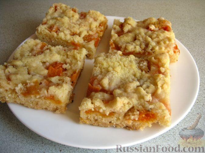 Рецепт Пирог песочный с абрикосами