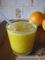 Фото к рецепту: Смузи из персика и апельсина