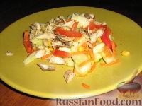 Фото к рецепту: Салат со скумбрией-гриль