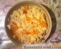 Фото к рецепту: Сладкий рис с яблоками и мандаринами