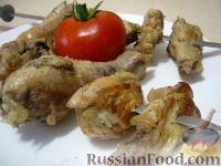 Фото к рецепту: Шашлык из курицы с перцем и уксусом