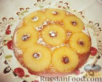 Фото к рецепту: Перевернутый ананасовый пирог (Pineapple upside-down cake)