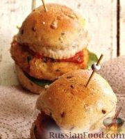 Фото к рецепту: Мини-бургеры с фасолевыми котлетами