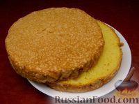 Фото приготовления рецепта: Ленивый бисквит - шаг №5