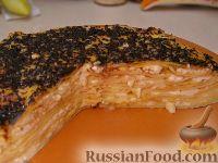 Фото к рецепту: Блинный торт с творогом
