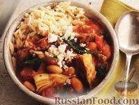 Фото к рецепту: Ягнятина, тушенная с фасолью и артишоками