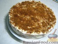 """Фото к рецепту: Бисквитный торт """"Нежный"""""""