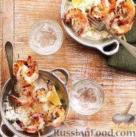 Фото к рецепту: Креветки, жаренные на гриле