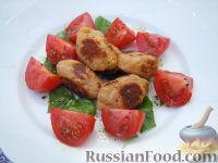 Фото к рецепту: Салат из базилика и помидоров, с творожными клецками