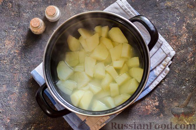 Фото приготовления рецепта: Картофельно-грибное пюре с курицей - шаг №9